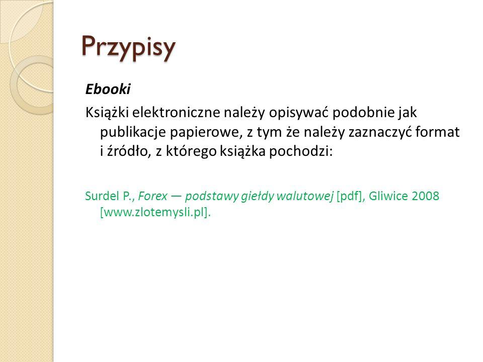 Przypisy Ebooki.