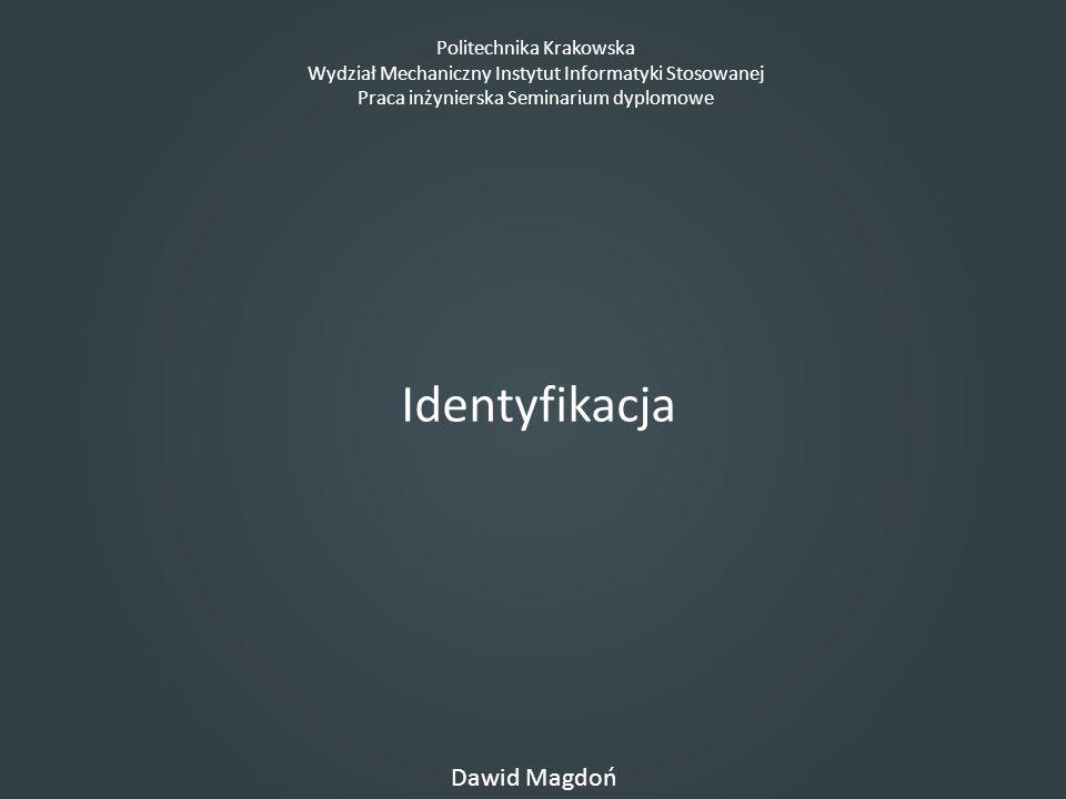 Identyfikacja Dawid Magdoń Politechnika Krakowska