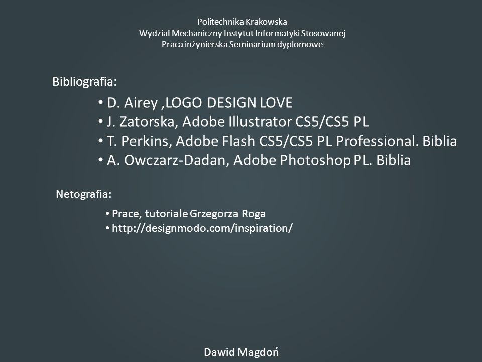 D. Airey ,LOGO DESIGN LOVE J. Zatorska, Adobe Illustrator CS5/CS5 PL