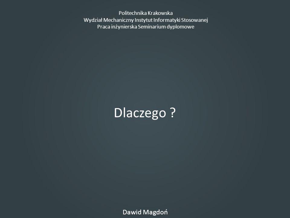 Dlaczego Dawid Magdoń Politechnika Krakowska