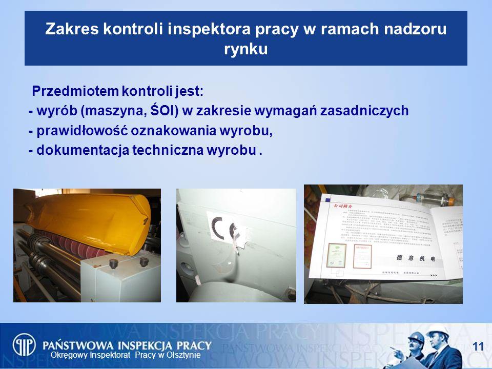 Zakres kontroli inspektora pracy w ramach nadzoru rynku