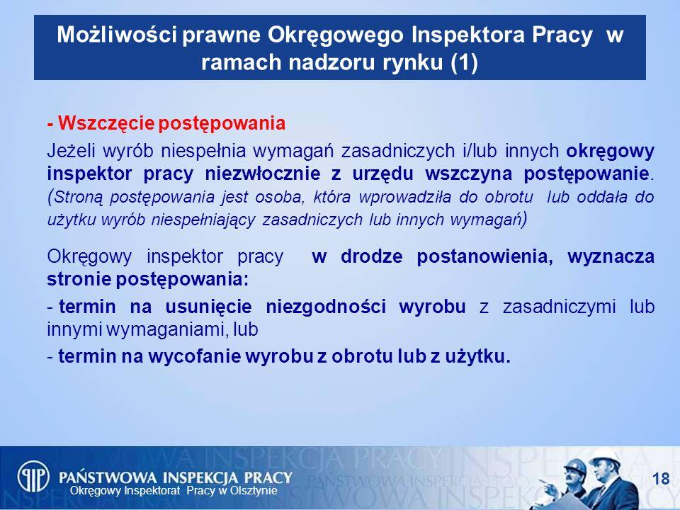 Możliwości prawne Okręgowego Inspektora Pracy w ramach nadzoru rynku (1)