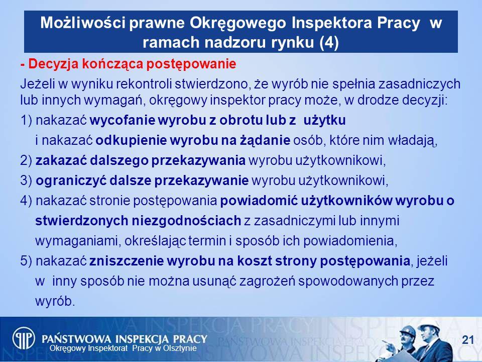 Możliwości prawne Okręgowego Inspektora Pracy w ramach nadzoru rynku (4)