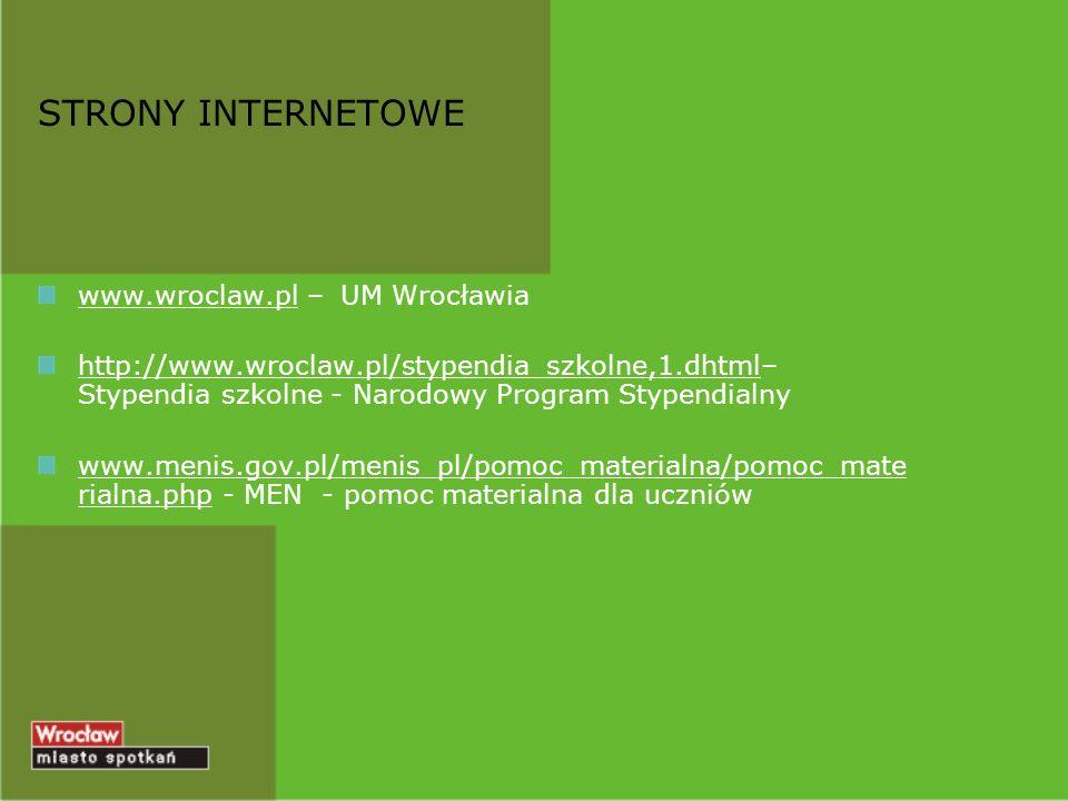 STRONY INTERNETOWE www.wroclaw.pl – UM Wrocławia