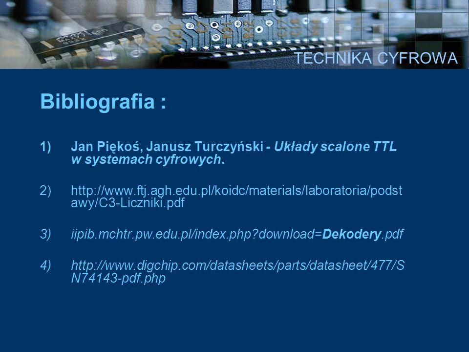 Bibliografia : TECHNIKA CYFROWA