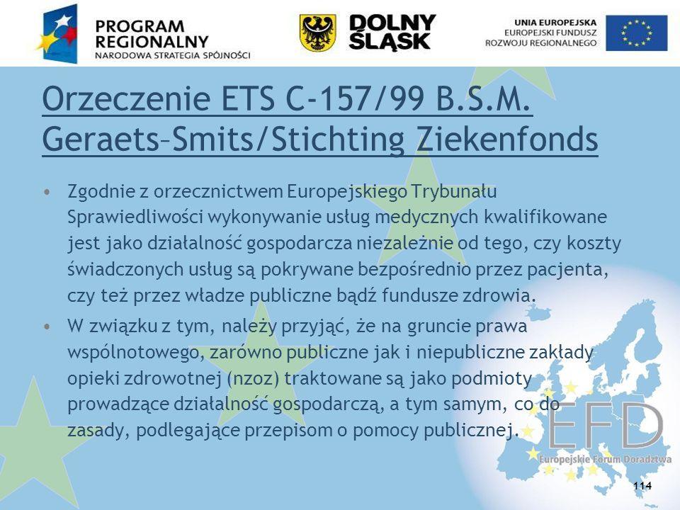 Orzeczenie ETS C-157/99 B.S.M. Geraets–Smits/Stichting Ziekenfonds