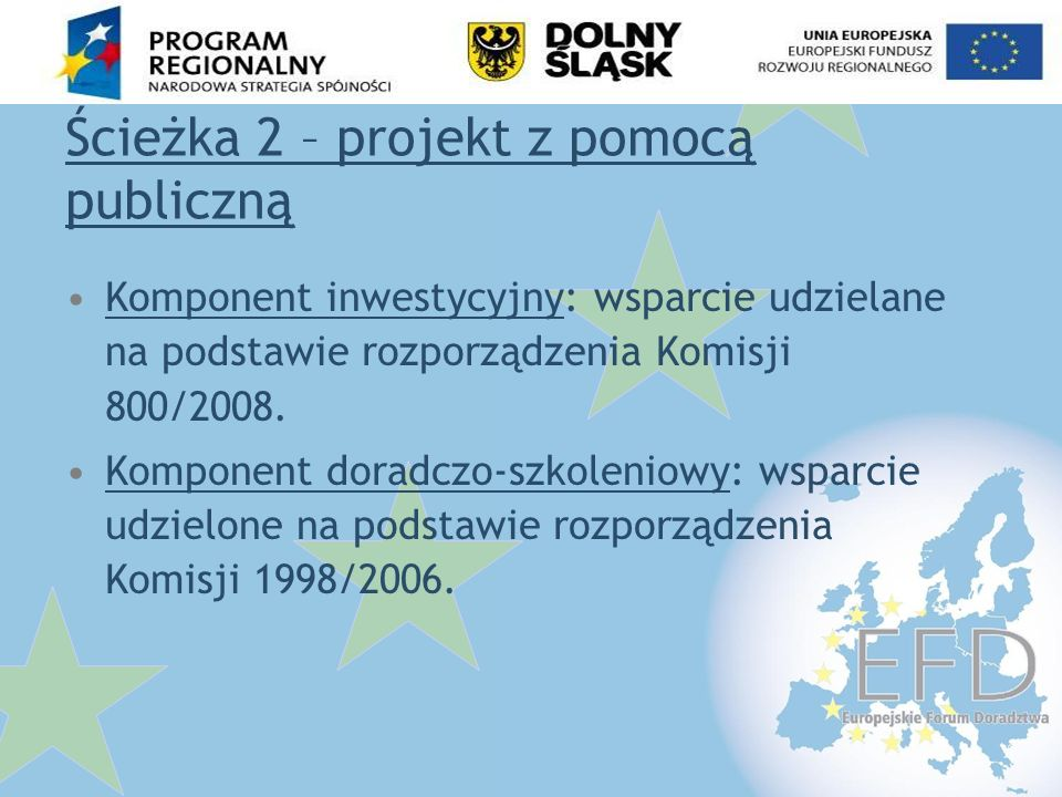 Ścieżka 2 – projekt z pomocą publiczną