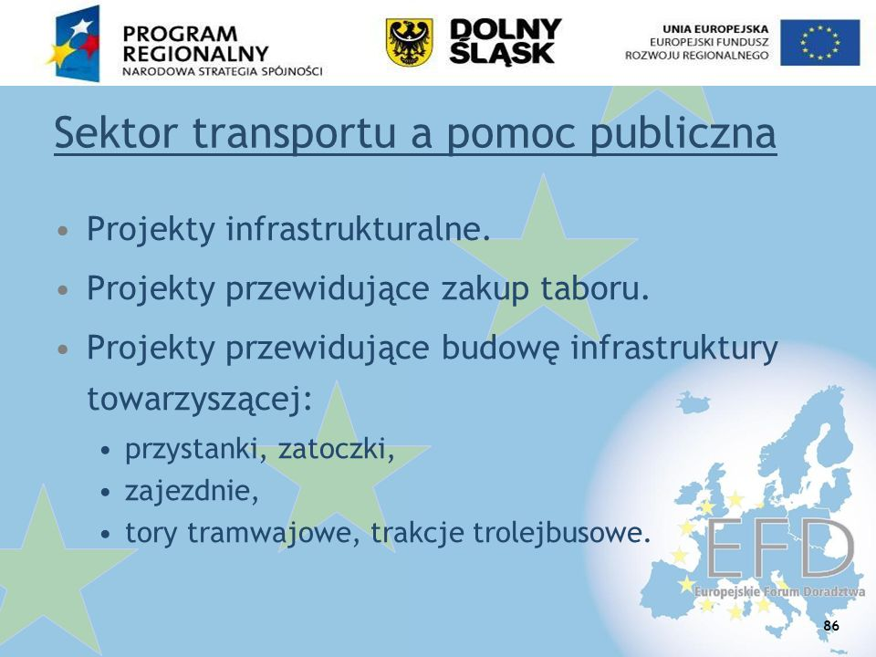 Sektor transportu a pomoc publiczna