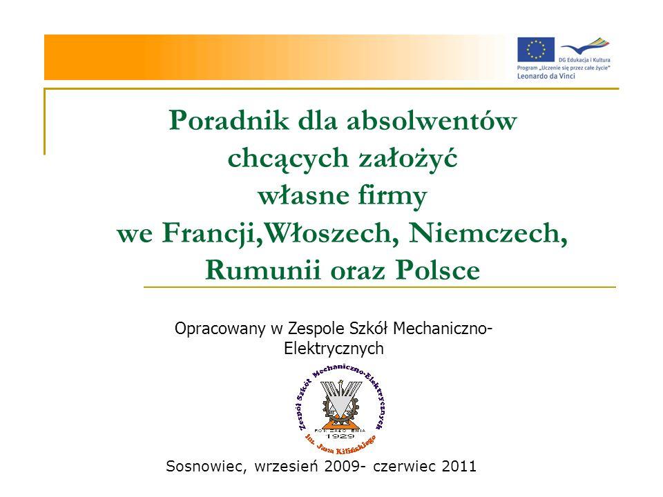 Opracowany w Zespole Szkół Mechaniczno-Elektrycznych