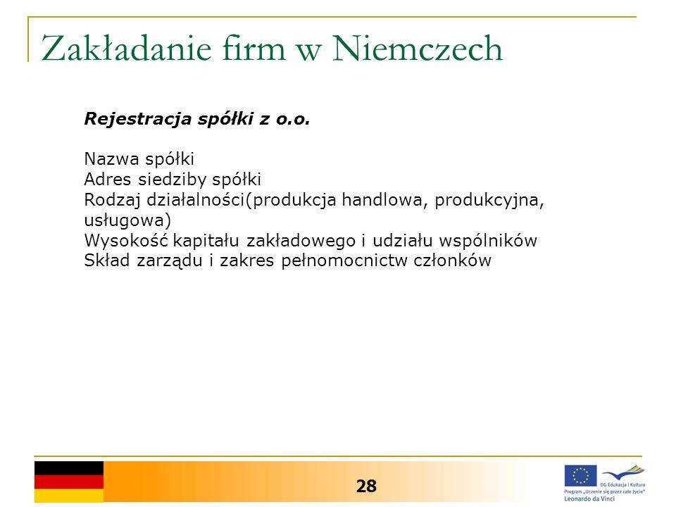 Zakładanie firm w Niemczech