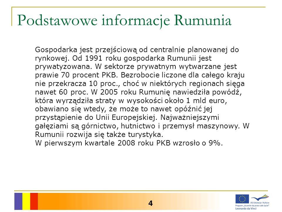 Podstawowe informacje Rumunia