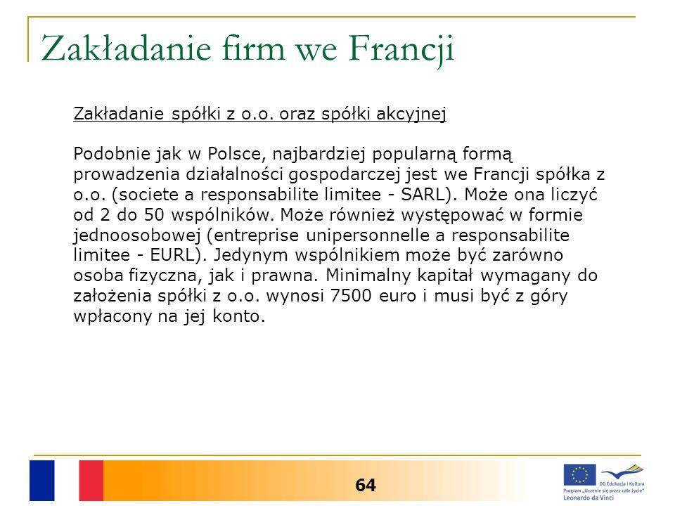Zakładanie firm we Francji