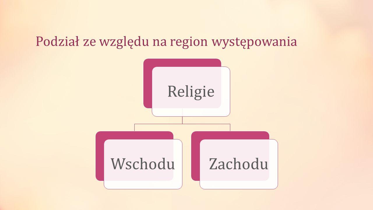 Podział ze względu na region występowania