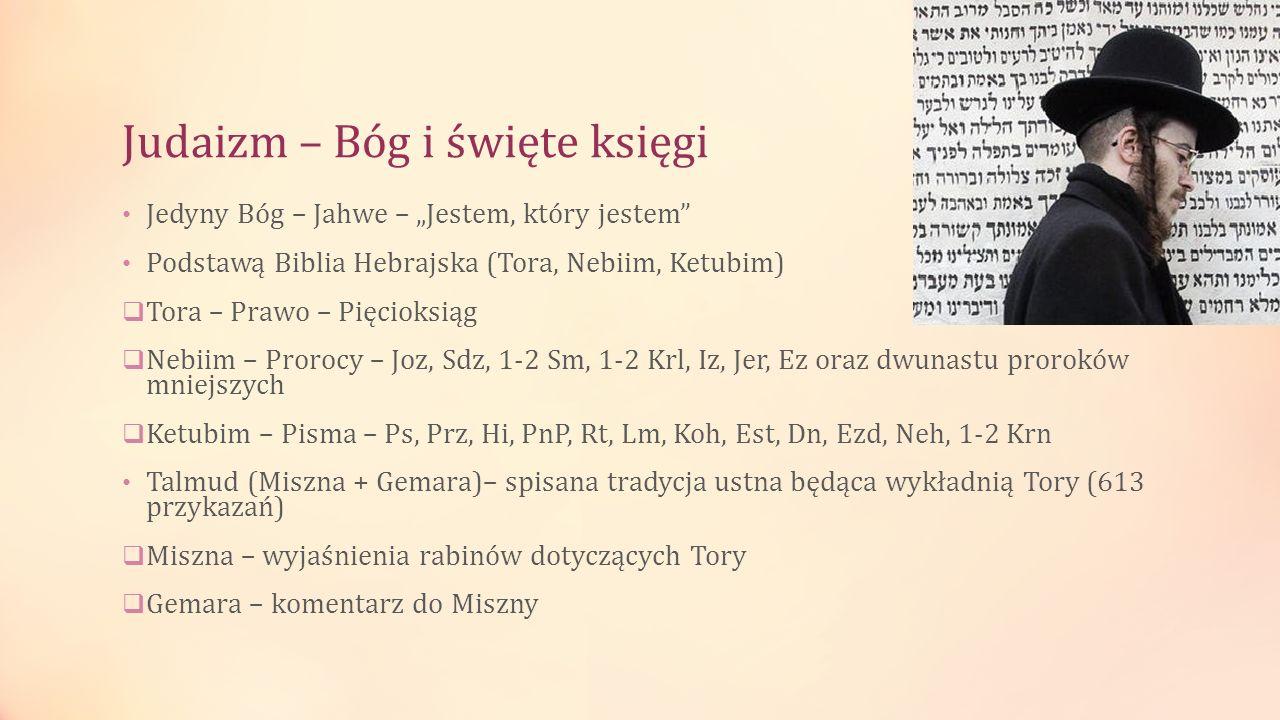 Judaizm – Bóg i święte księgi