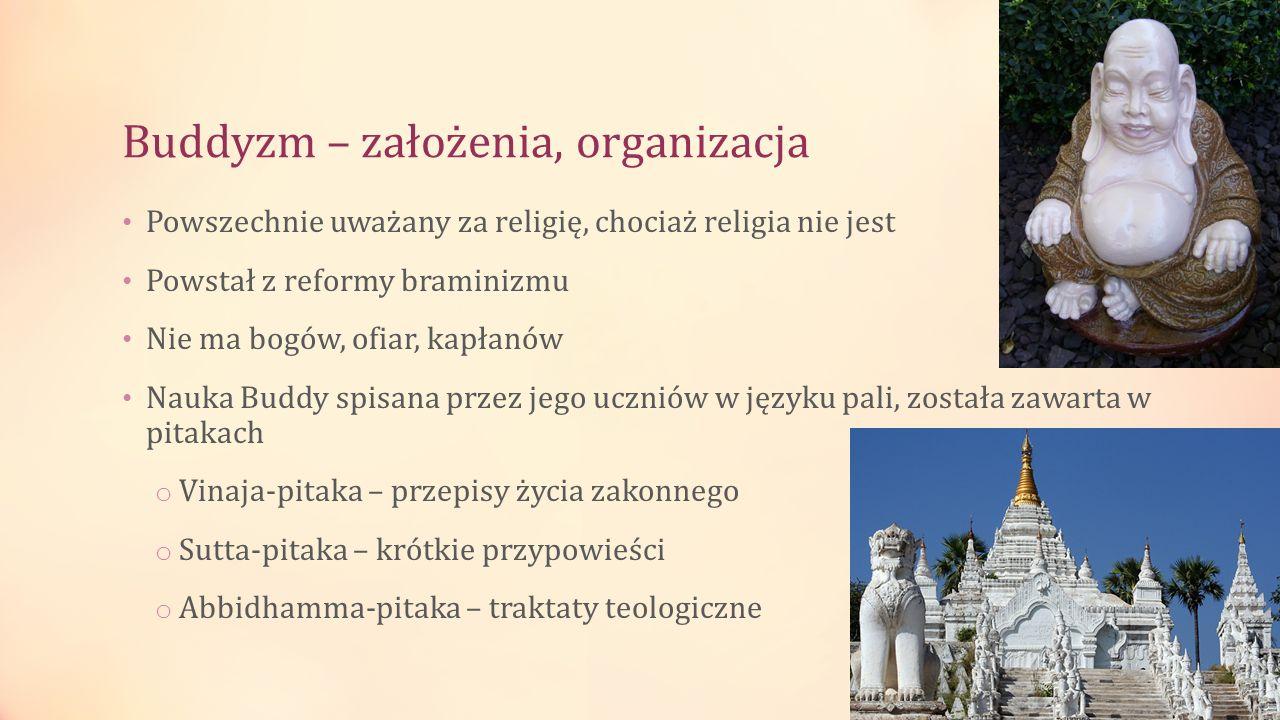 Buddyzm – założenia, organizacja