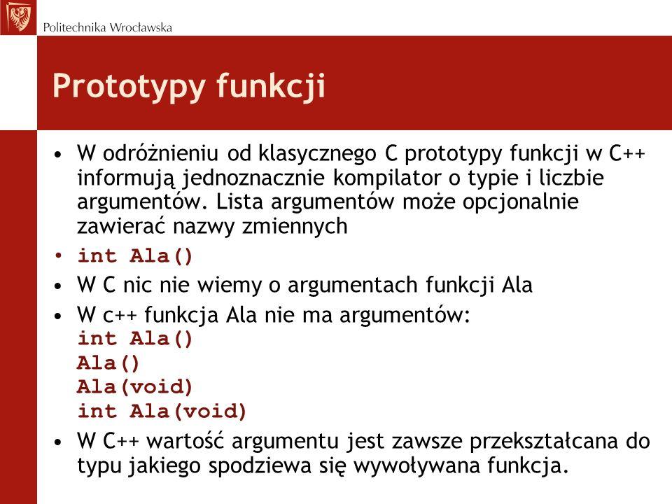 Prototypy funkcji