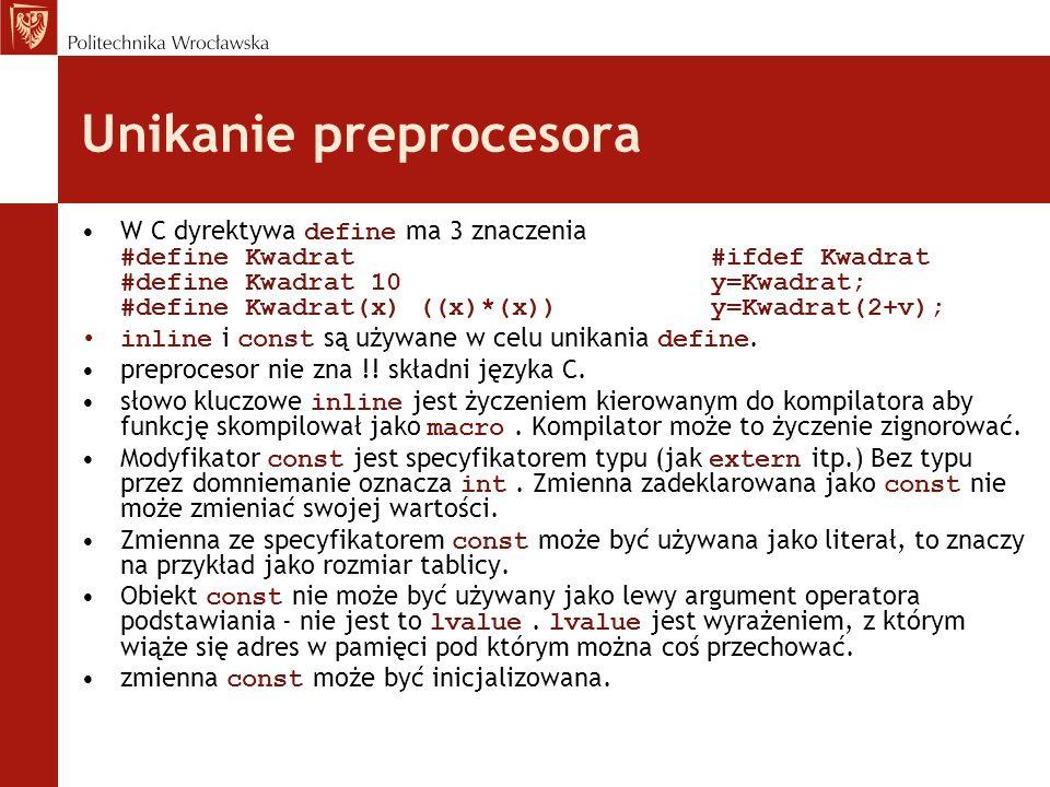 Unikanie preprocesora