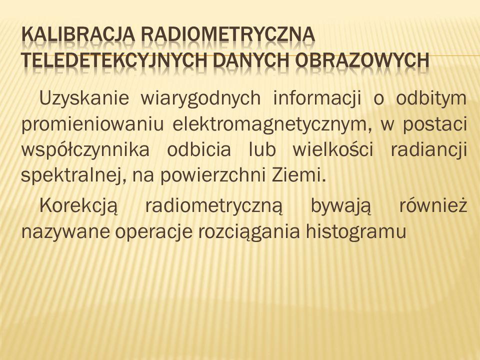 Kalibracja radiometryczna teledetekcyjnych danych obrazowych