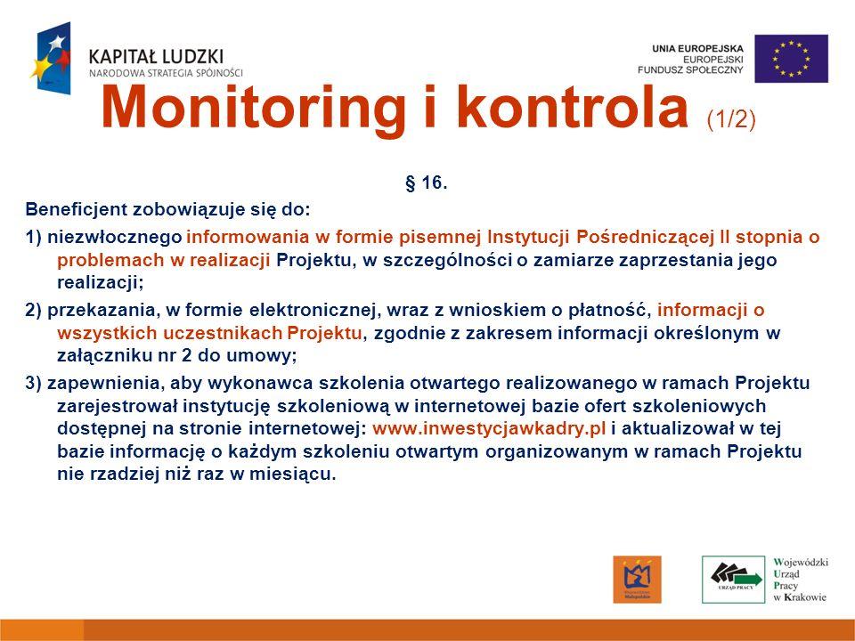 Monitoring i kontrola (1/2)