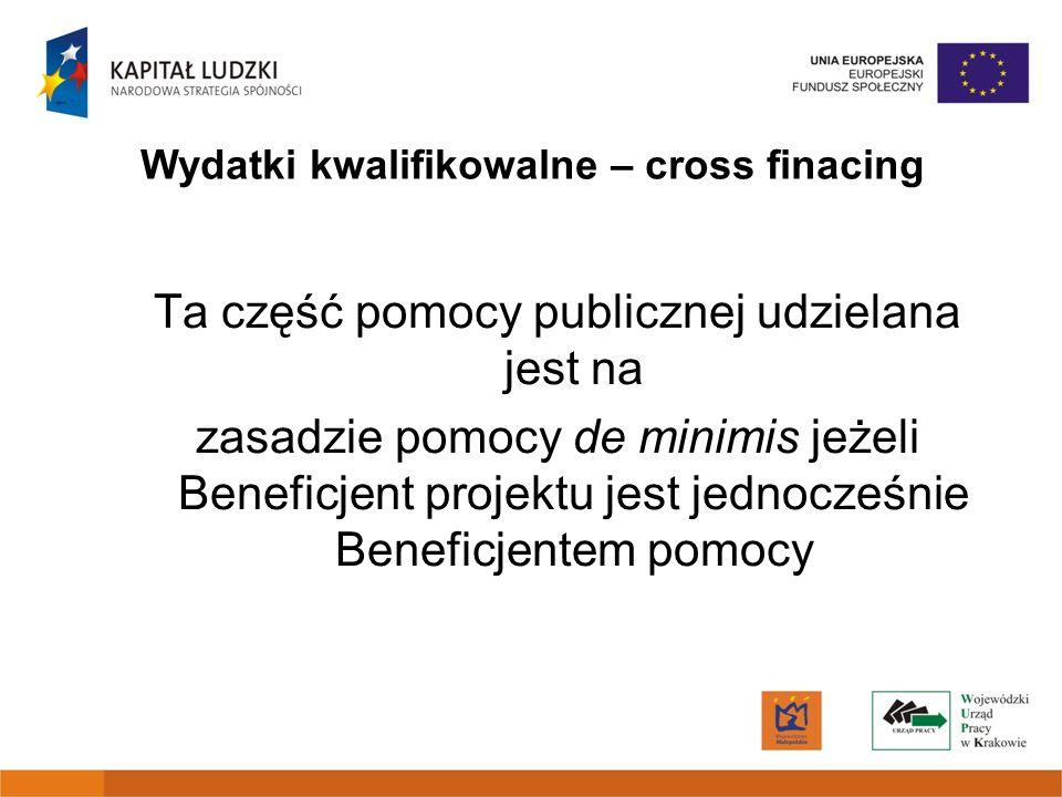 Wydatki kwalifikowalne – cross finacing