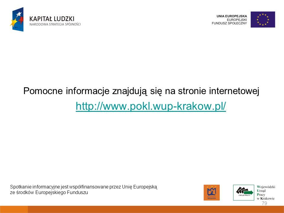 Pomocne informacje znajdują się na stronie internetowej