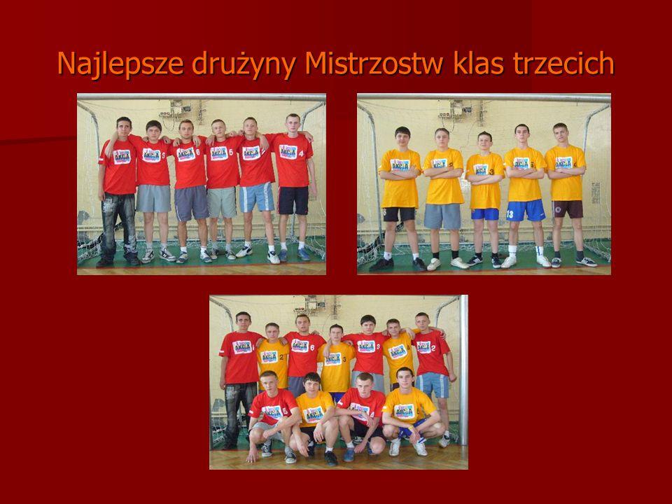 Najlepsze drużyny Mistrzostw klas trzecich