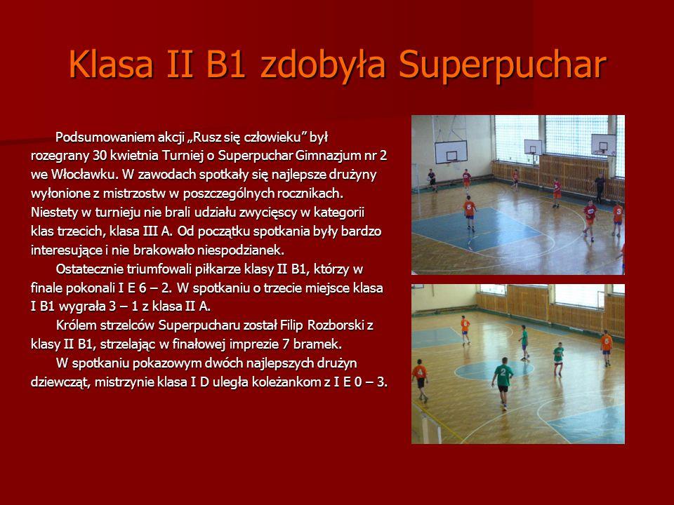 Klasa II B1 zdobyła Superpuchar