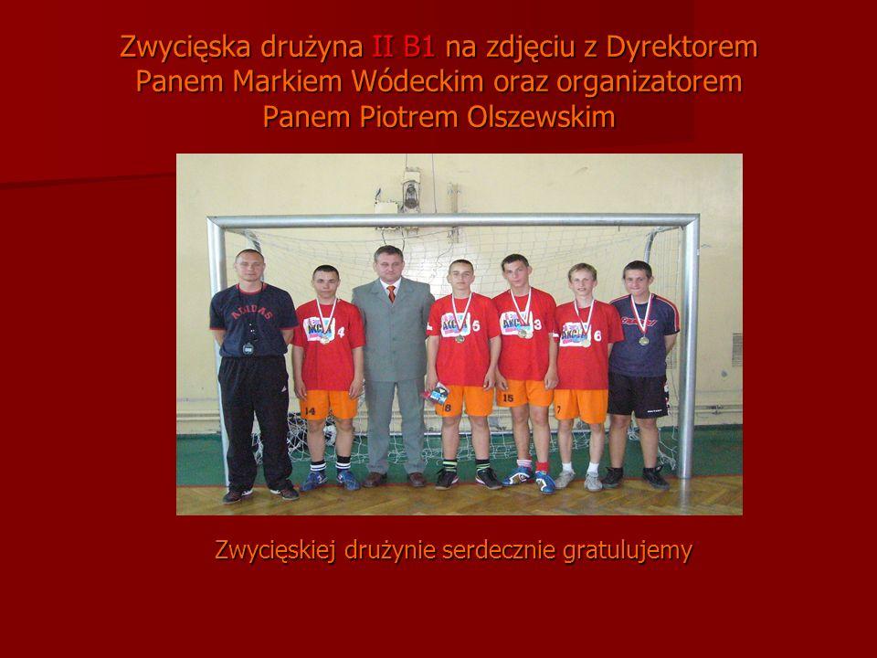 Zwycięskiej drużynie serdecznie gratulujemy