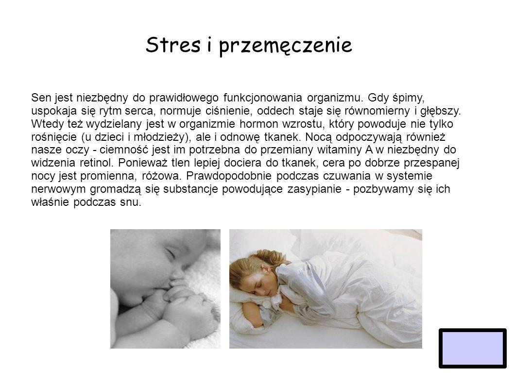 Stres i przemęczenie Menu