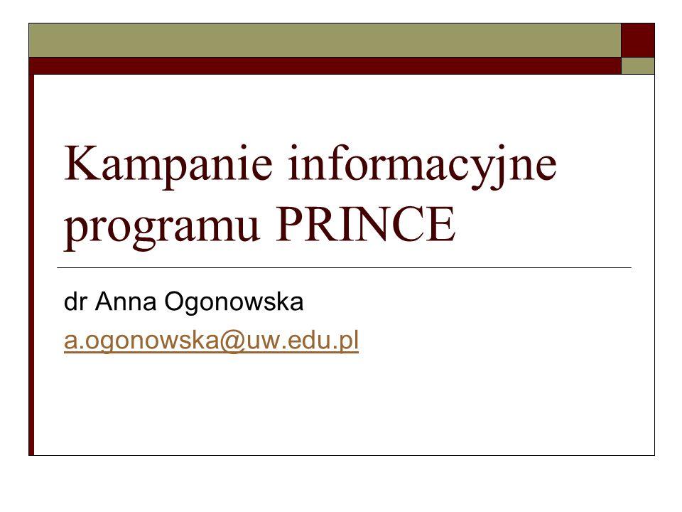 Kampanie informacyjne programu PRINCE
