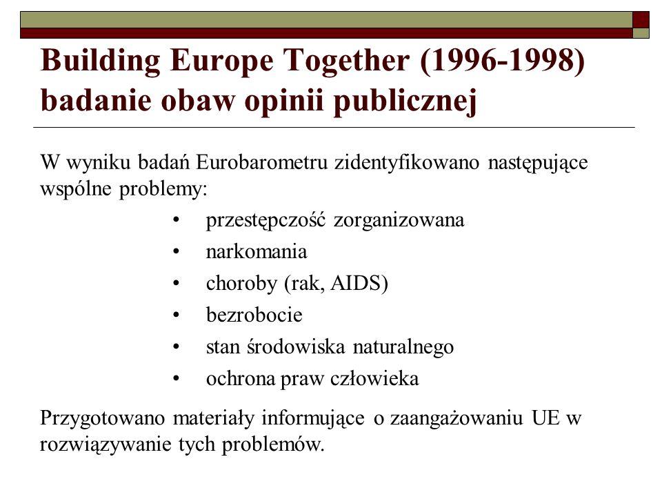 Building Europe Together (1996-1998) badanie obaw opinii publicznej