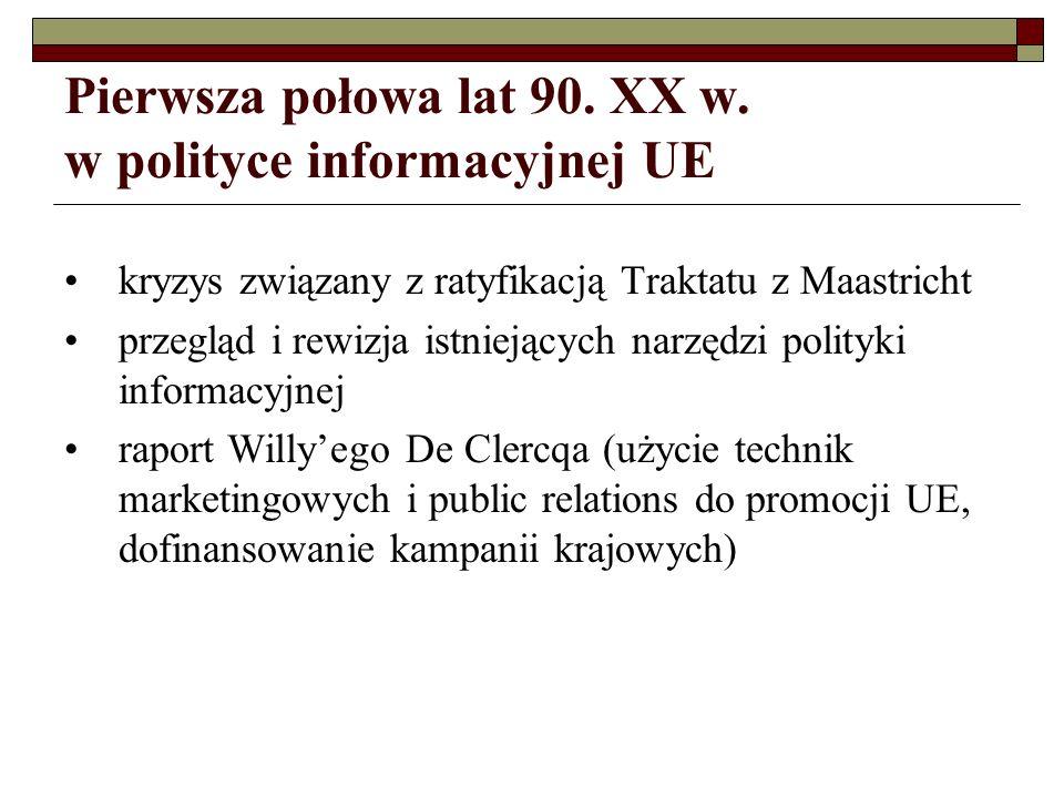Pierwsza połowa lat 90. XX w. w polityce informacyjnej UE
