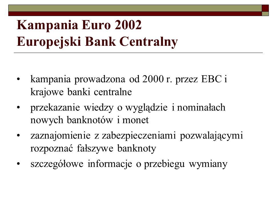 Kampania Euro 2002 Europejski Bank Centralny