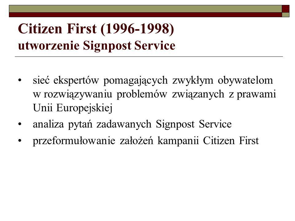 Citizen First (1996-1998) utworzenie Signpost Service