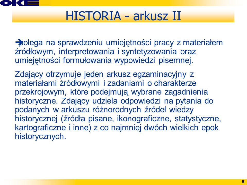 HISTORIA - arkusz II