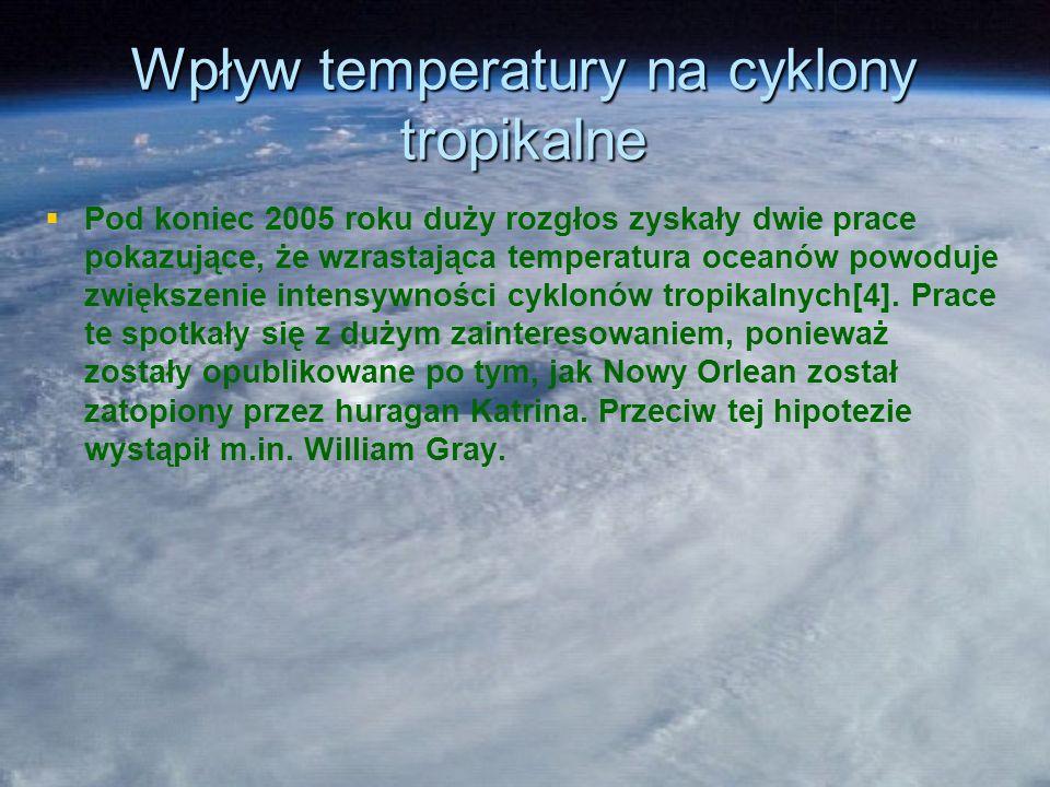 Wpływ temperatury na cyklony tropikalne