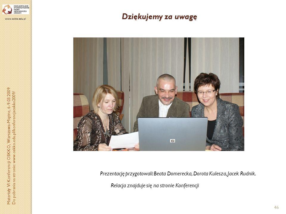 Dziękujemy za uwagę www.oskko.edu.pl.