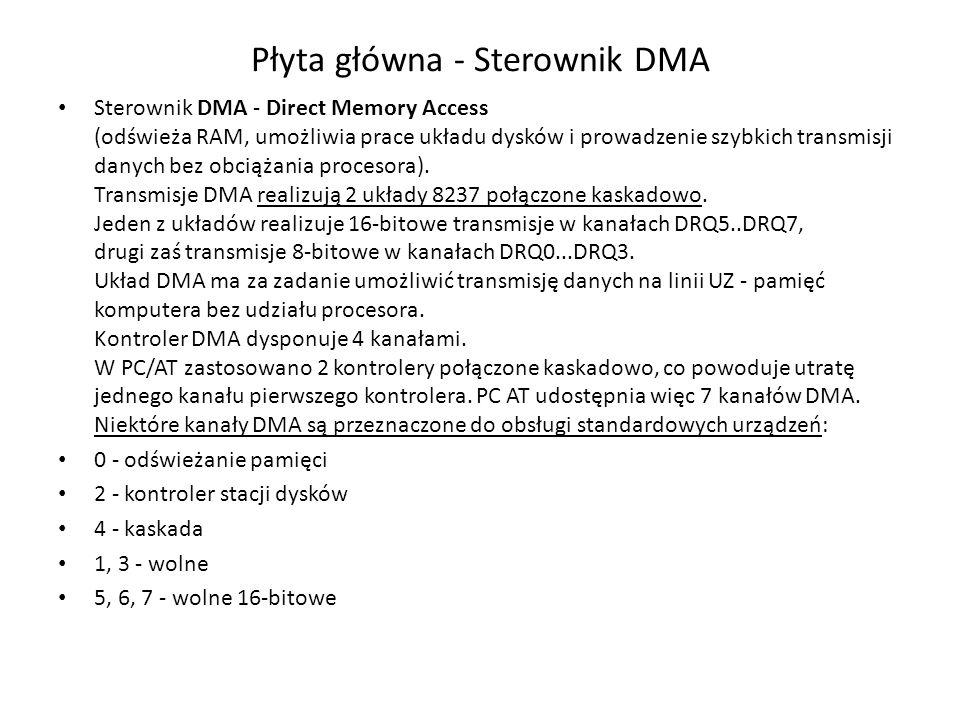 Płyta główna - Sterownik DMA