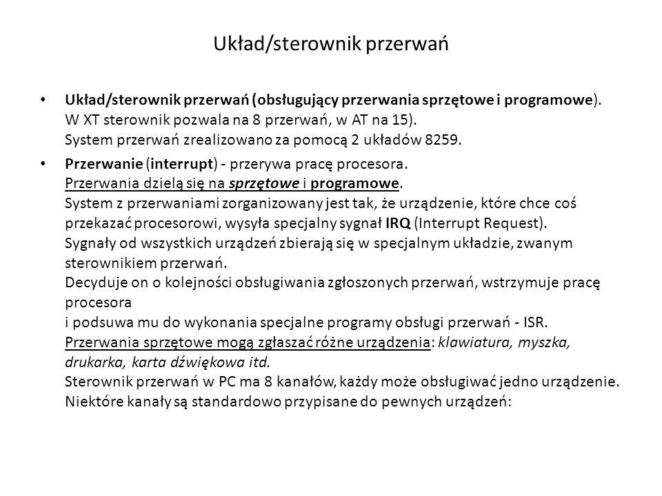 Układ/sterownik przerwań