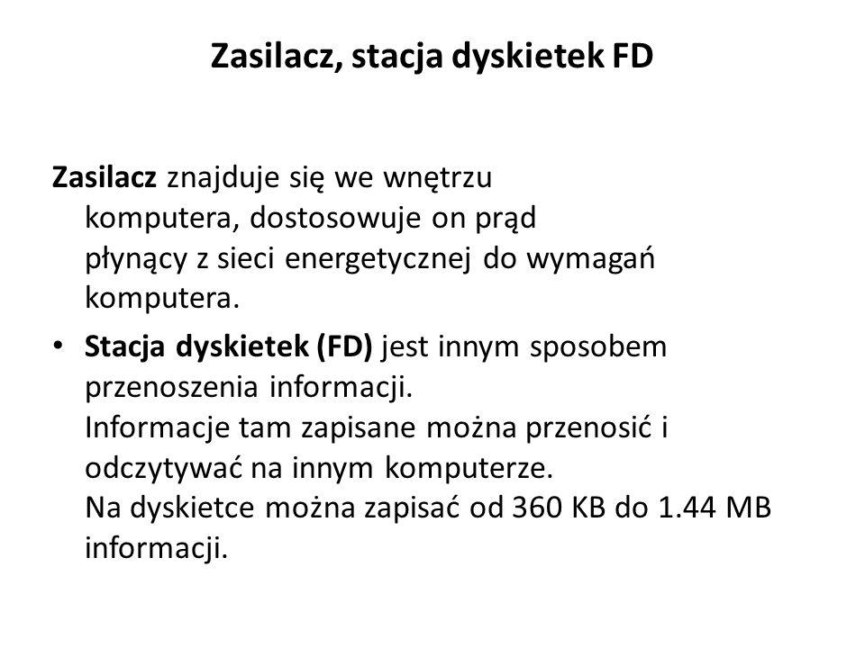 Zasilacz, stacja dyskietek FD