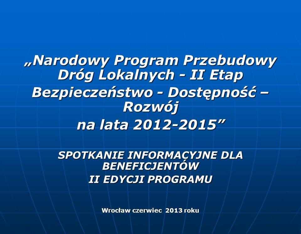 """""""Narodowy Program Przebudowy Dróg Lokalnych - II Etap"""