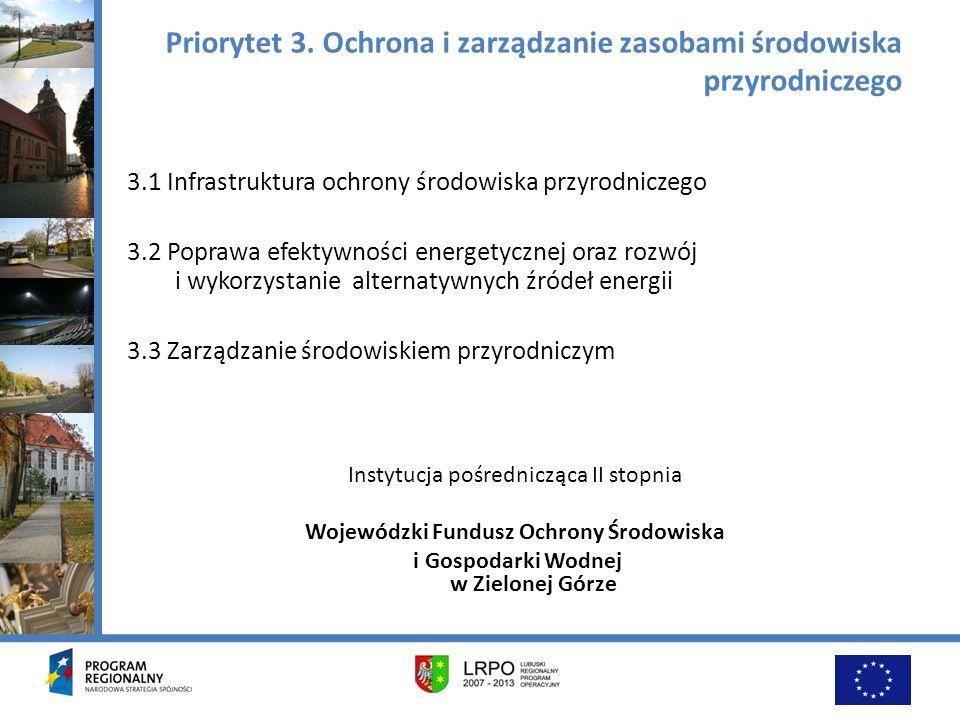 Priorytet 3. Ochrona i zarządzanie zasobami środowiska przyrodniczego