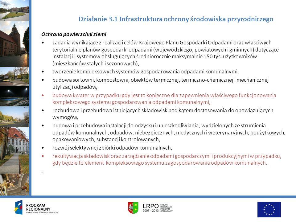 Działanie 3.1 Infrastruktura ochrony środowiska przyrodniczego