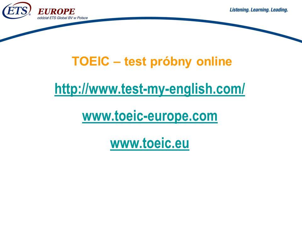 TOEIC – test próbny online
