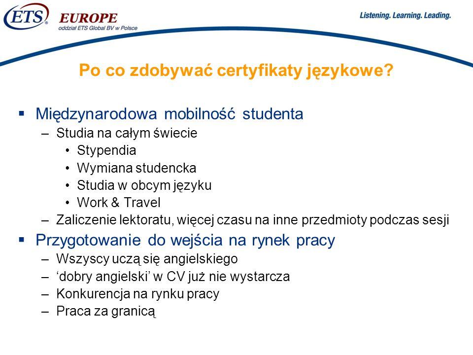 Po co zdobywać certyfikaty językowe