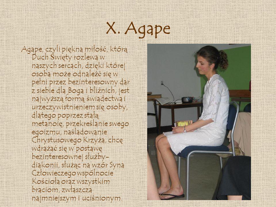 X. Agape