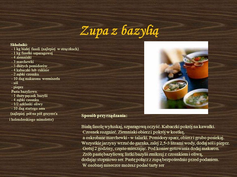 Zupa z bazylią