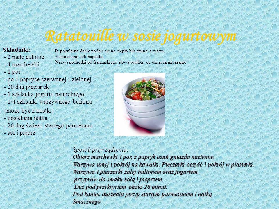Ratatouille w sosie jogurtowym