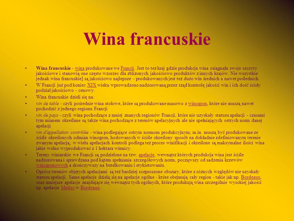 Wina francuskie