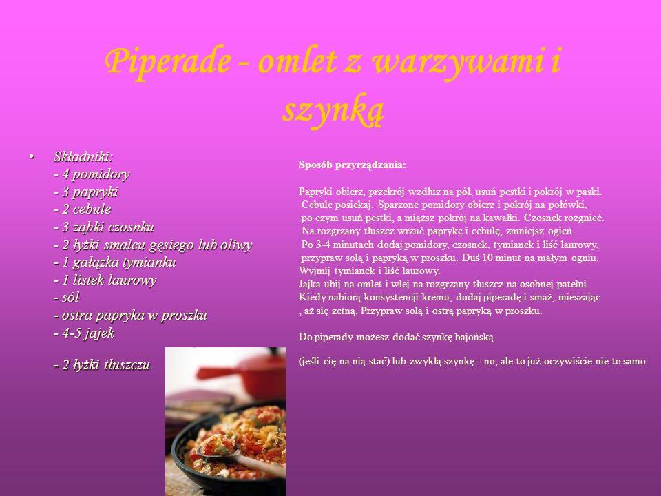Piperade - omlet z warzywami i szynką